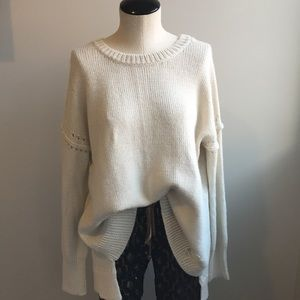 Wildfox Cream Long Sweater